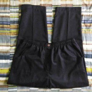 Alia Elastic Waist Black Casual Pants